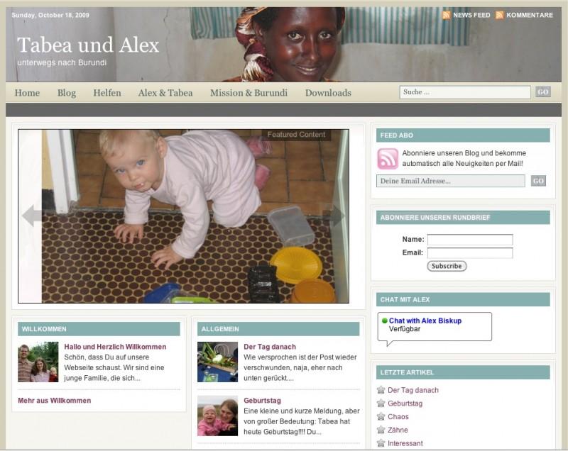 Unseren neue Webseite