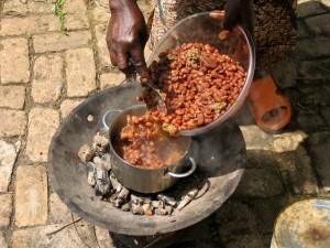 Bohnen mit dem Imbabura gekocht