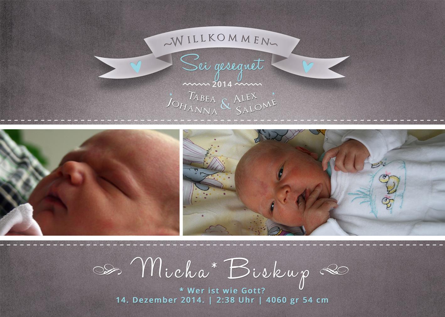 Geburtsanzeige-Micha 1